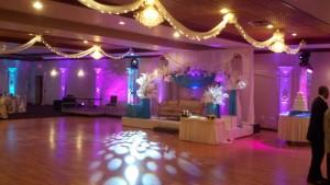 LED uplighting, Detroit wedding lighting
